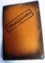 """Обложка для паспорта """"Гражданин"""" (печать, коричневый) 14-02-02"""